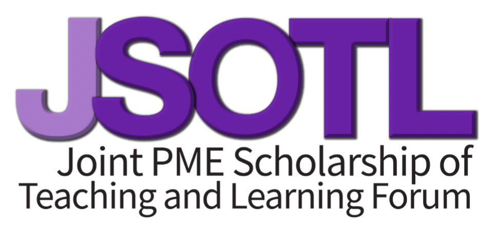 JSOTL graphic reading JSOTL Joint PME Scholarship of Teaching and Learning Forum