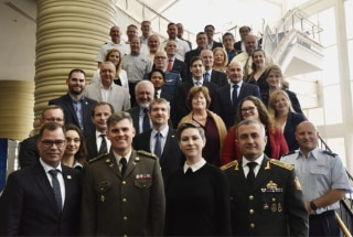Participants at the Global Partnership Network meeting